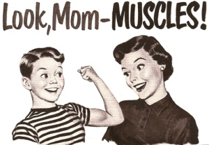 look mom muscles