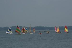 sailboats at sandyhill